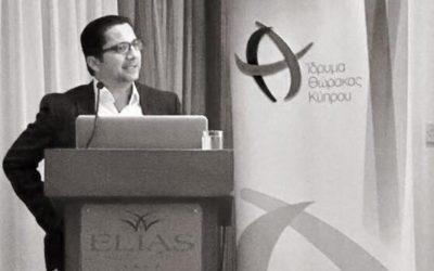 Στιγμιότυπα από τις ομιλίες του Δρ Άστρα κατά τις ενημερωτικές ομιλίες του Ιδρύματος Θώρακα Κύπρου